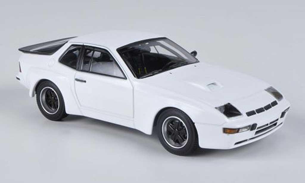 Porsche 924 1980 1/43 Minichamps Carrera GTS bianca Prasentationsfahrzeug miniatura