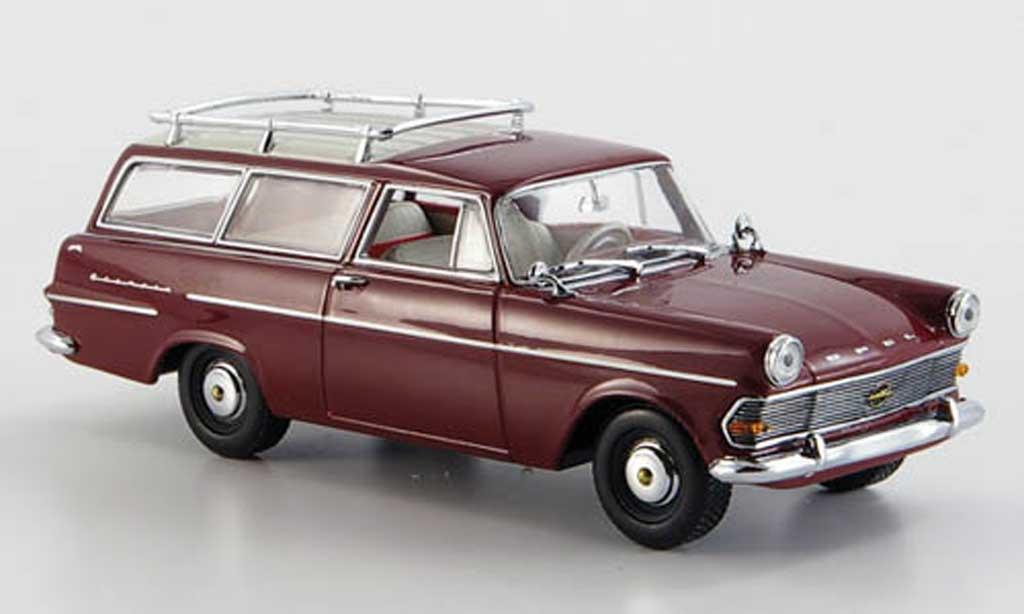 Opel Rekord 1/43 Minichamps P2 Caravan rouge 1960 miniature