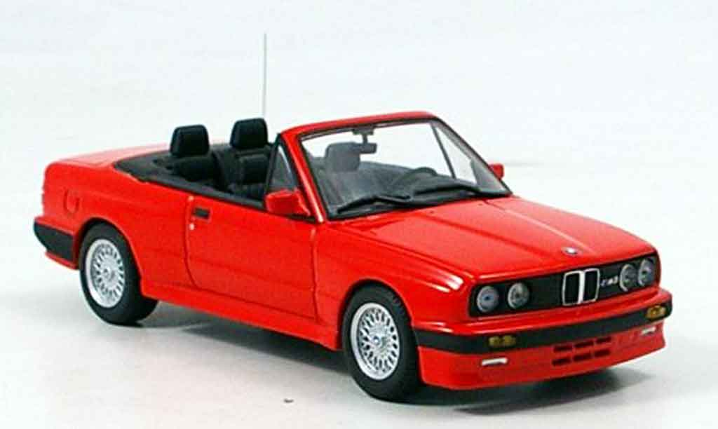 Bmw M3 E30 1/43 Minichamps 3er Cabrio red 1988 diecast model cars