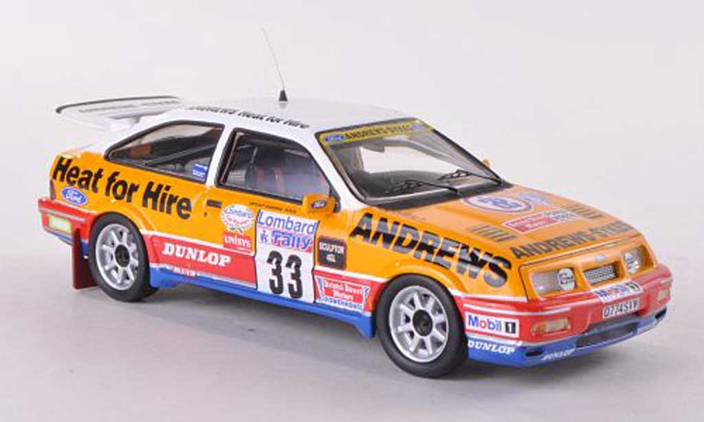 Ford Sierra Cosworth RS 1/43 Trofeu No.33 Andrews Rally Grossbritannien 1989 R.Brookes/N.Wilson miniature