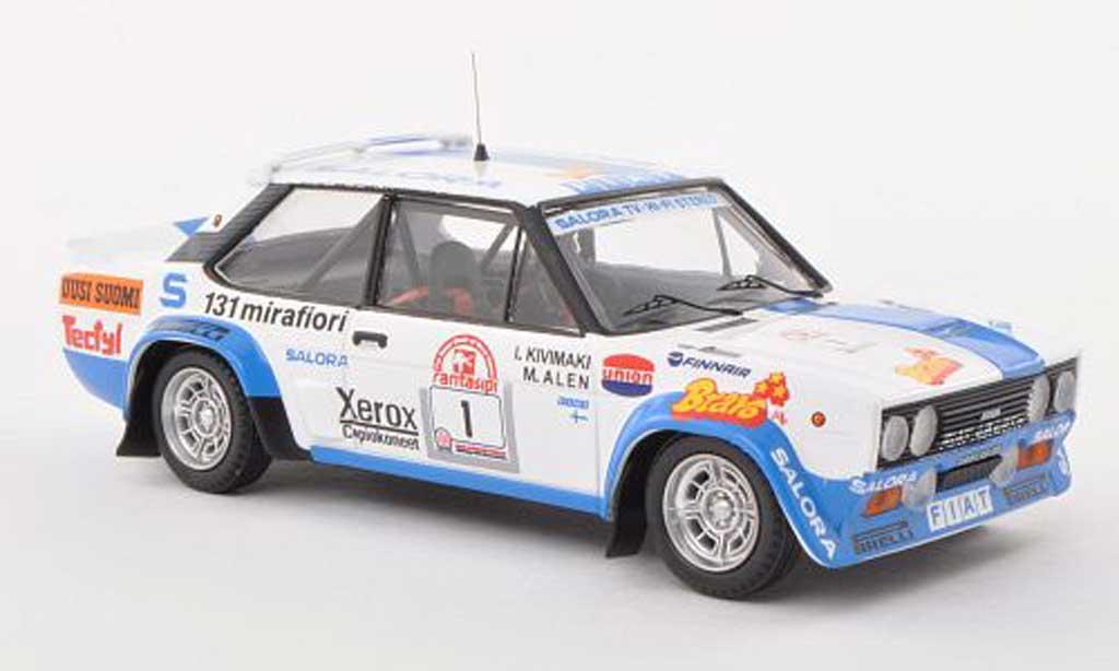 Fiat 131 Abarth 1/43 Trofeu No.1 Rally Finnland  1980 M.Alen/I.Kivimeki diecast