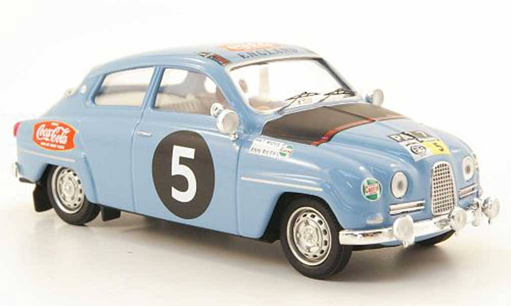 Saab 96 1/43 Trofeu No.5 Coca-Cola Safari Rally 12 P.Moss / A.Riley miniature