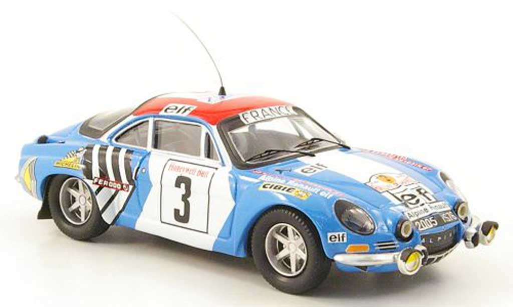 Alpine A110 1/43 Trofeu 1600S No.3 Nicolas/DelferrierRally Marokko 1974 diecast model cars