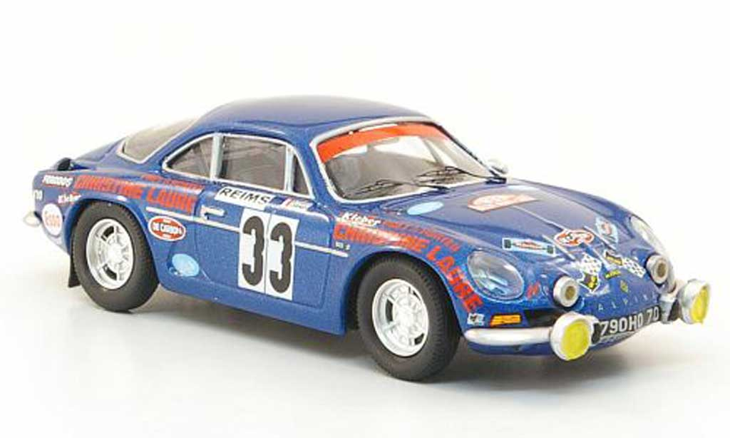 Alpine A110 1/43 Trofeu 1600S No.33 Henry/Thiry Rally Monte Carlo 1973 miniature