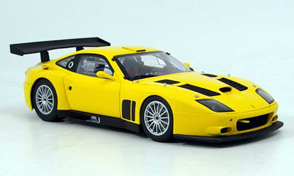 Ferrari 575 GTC 1/18 Kyosho yellow 2004 diecast model cars