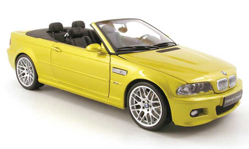 Bmw M3 E46 1/18 Kyosho Cabriolet yellow diecast model cars