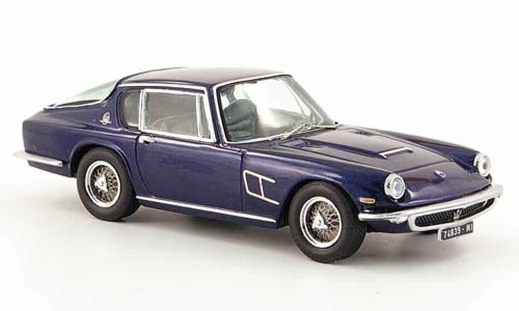 Maserati Mistral 1/43 IXO coupe bleu 1963 miniature