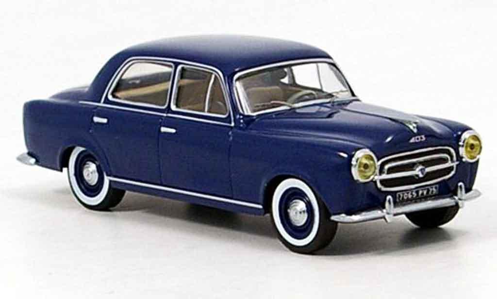 Peugeot 403 Berline 1/43 IXO bleu 1956 miniature