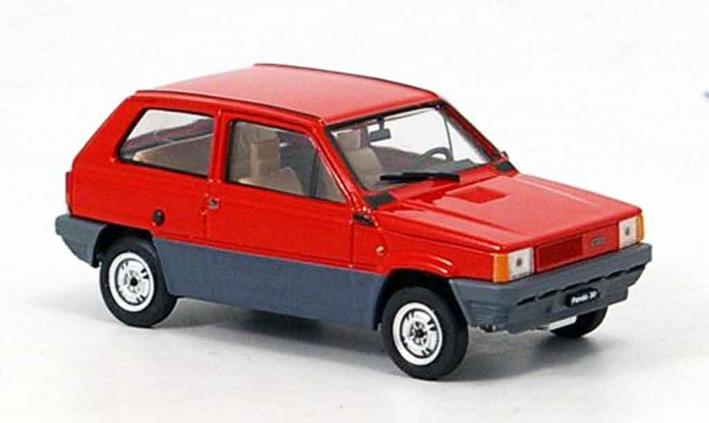 Fiat Panda 1/43 Brumm 30 rouge 1980 miniature