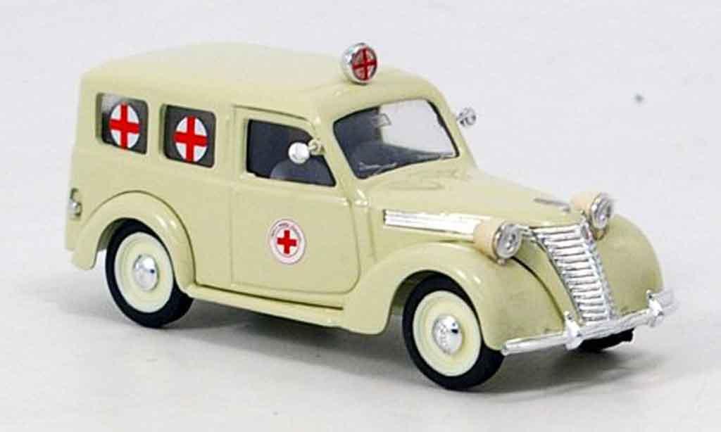 Fiat 1100 1/43 Brumm Ambulanz rougees Kreuz miniature