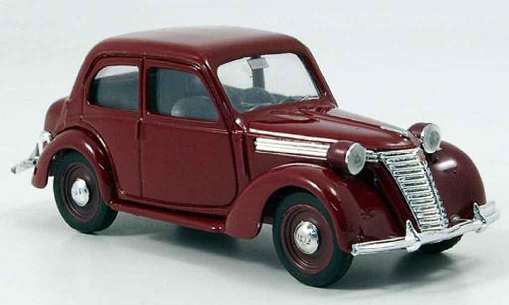 Fiat 1100 1/43 Brumm E rouge miniature