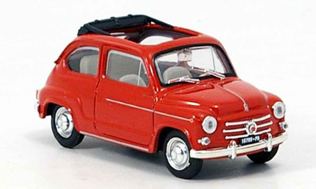 Fiat 600 1/43 Brumm D offenrouge 1960 miniature