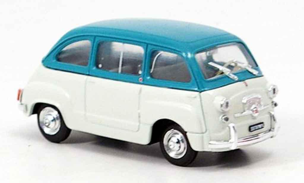 Fiat 600 1/43 Brumm Multipla grise turkis 1960 miniature