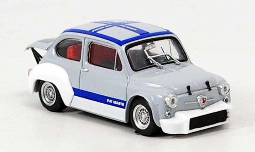 Fiat Abarth 1000 1/43 Brumm Gruppe 2 grise bleu 1970