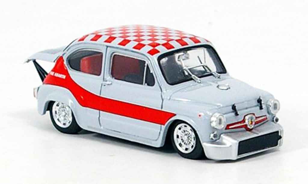Fiat Abarth 1000 1/43 Brumm Gruppe 5 grise rouge 1968 miniature