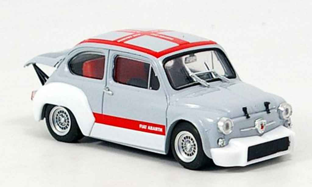 Fiat Abarth 1000 1/43 Brumm Gruppe 2 grise rouge 1970 miniature