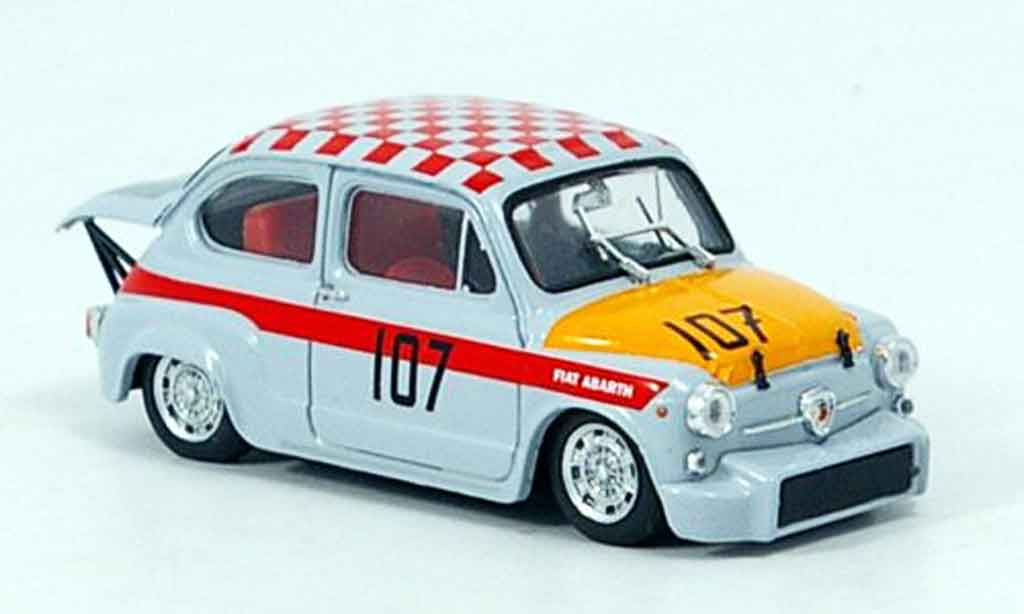 Fiat 500 1/43 Brumm Abarth 1000 No.107 km Nurburgring 1967 modellautos