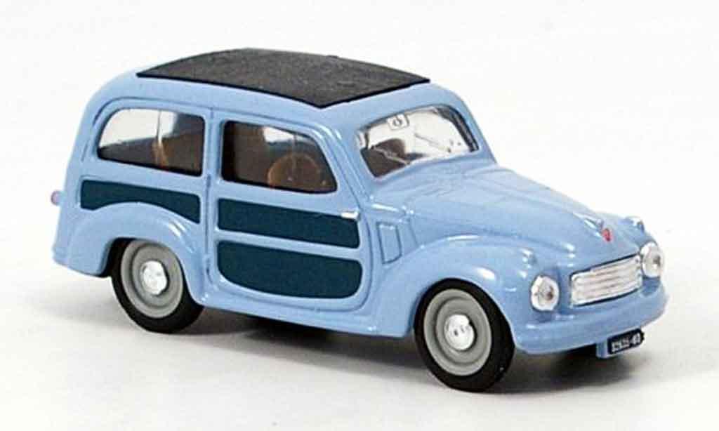 Fiat 500 1/43 Brumm C Belvedere bleu 1951 diecast