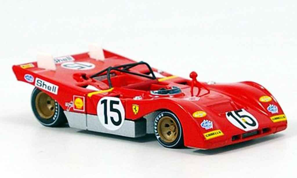 Ferrari 312 PB 1/43 Brumm no.15 ickx 1000km monza 1971 miniature
