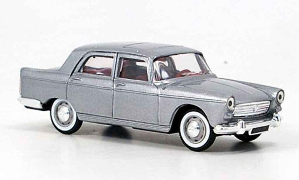 Peugeot 404 Berline 1/43 Norev grise metallisee miniature