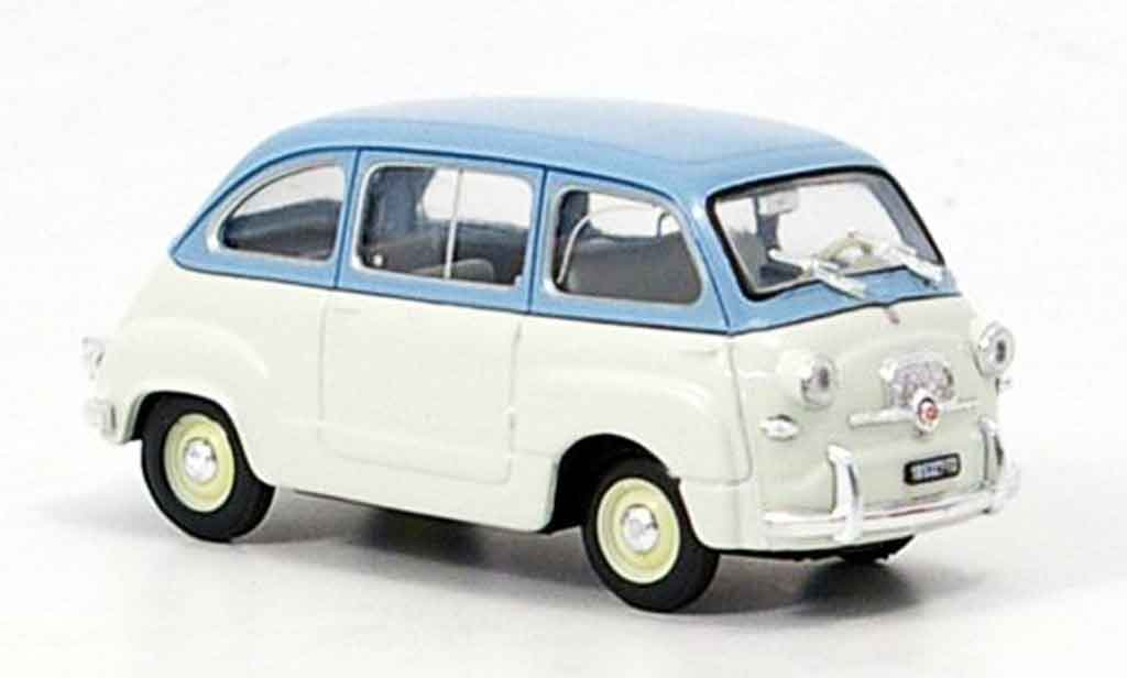 Fiat 600 1/43 Brumm Multipla bleu grise 1956 miniature