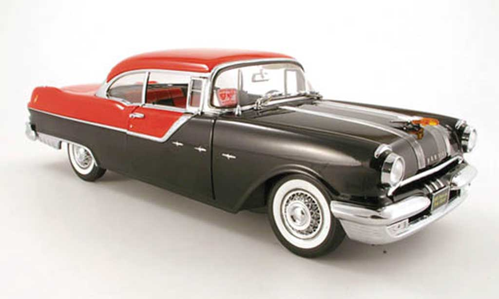Pontiac Star Chief 1/18 Sun Star hard top noire rouge 1955 miniature