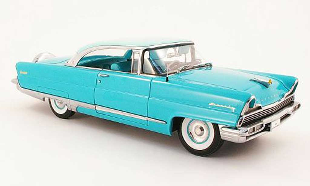 Lincoln Premiere 1/18 Sun Star hard top bleu 1956 miniatura