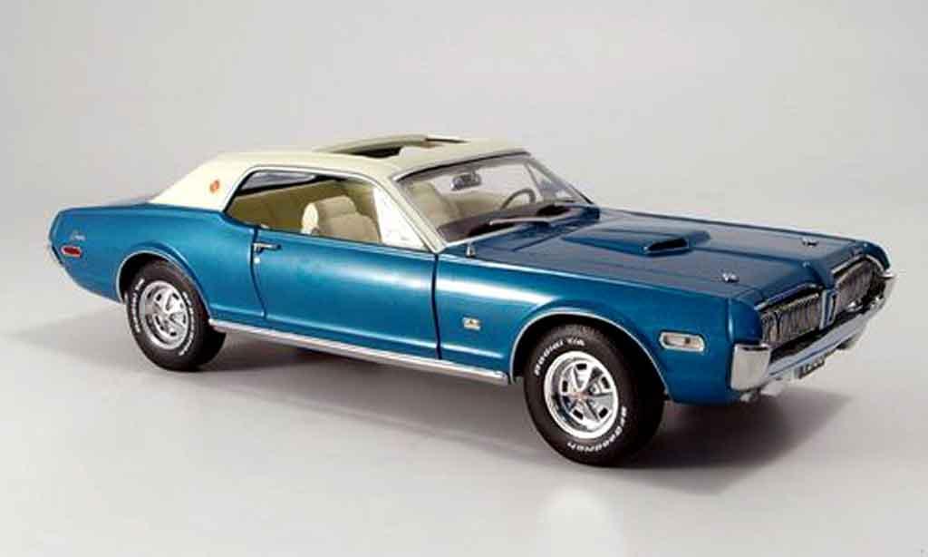 Mercury Cougar 1/18 Sun Star xr7g bleu white 1968 diecast