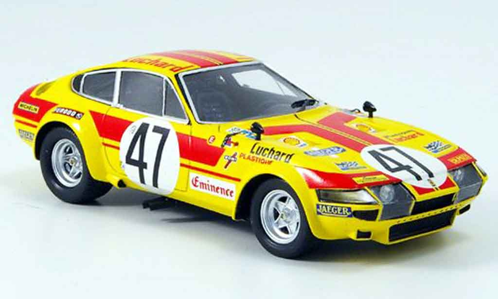 Ferrari 365 GTB/4 1/43 Red Line GTB/4 no.47 le mans 1975 diecast model cars