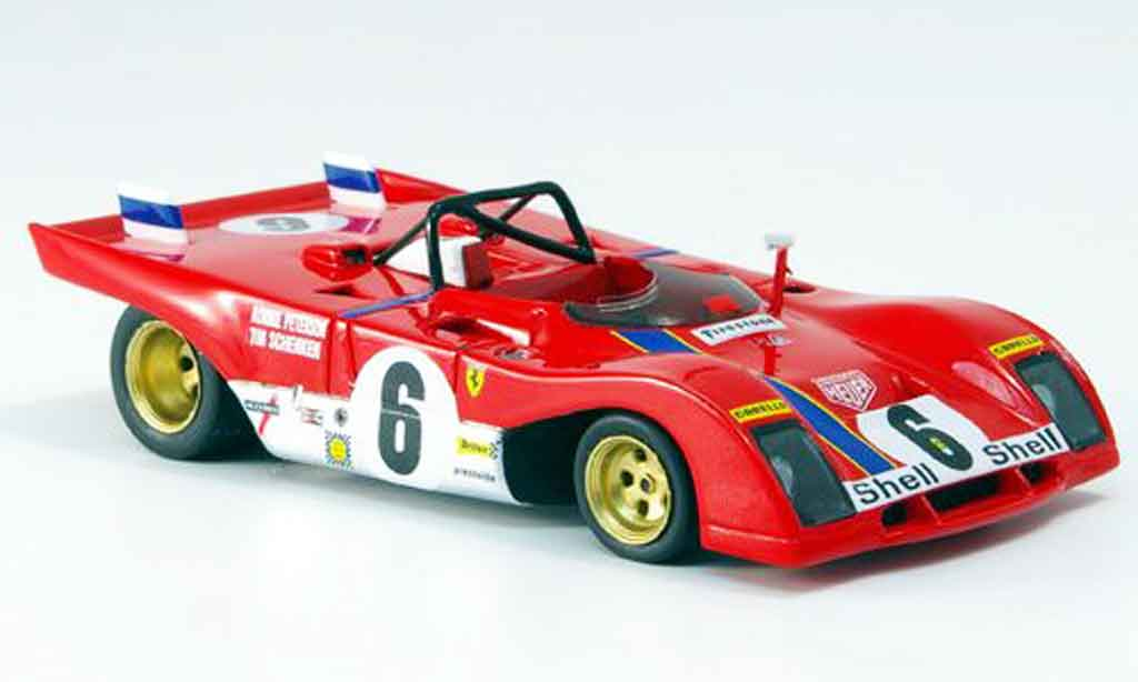 Ferrari 312 PB 1/43 Red Line no.6 daytona 1972 miniature