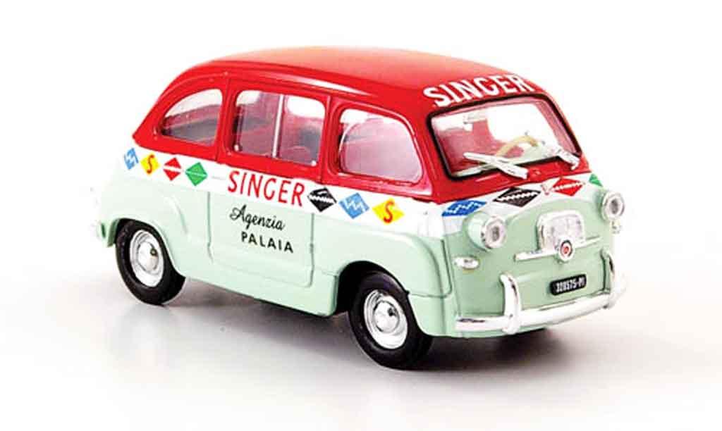Fiat 600 1/43 Brumm Multipla Agenzia Singer 1956 miniature
