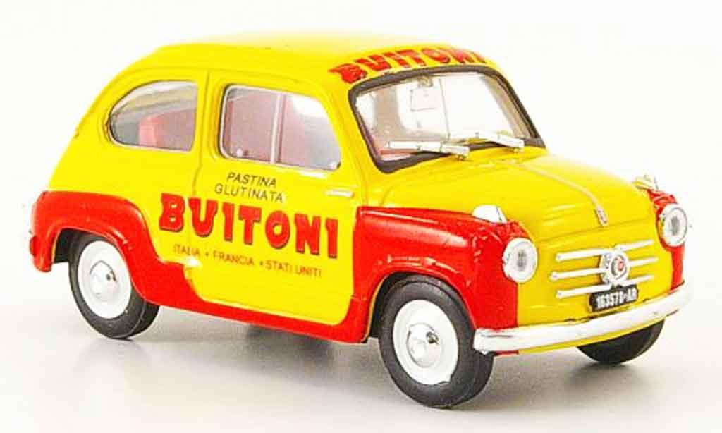 Fiat 600 1/43 Brumm Pasta Buitoni 1955 diecast