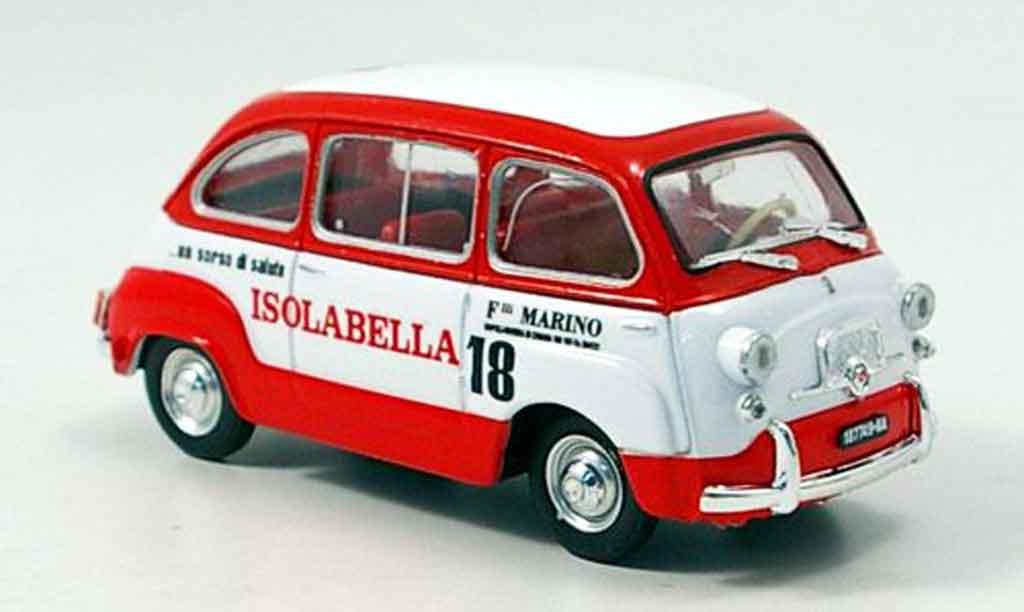 Fiat 600 1/43 Brumm Multipla Amaro 18 Isolabella 1960 miniature