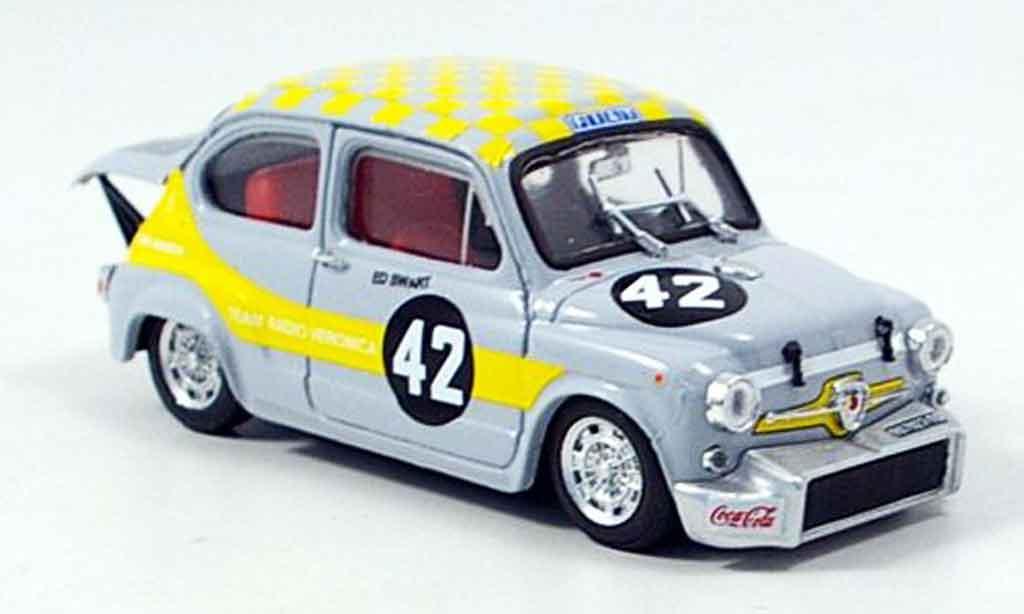 Fiat Abarth 1000 1/43 Brumm No.42 Swart dritter Zandvoort 1969 miniature