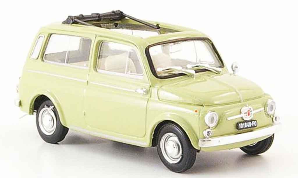 Fiat 500 1/43 Brumm green 1960 diecast