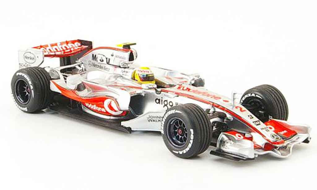 Mercedes F1 1/43 Minichamps McLaren MP 4 22 L.Hamilton Vodafone 1st Podium 2007 miniature