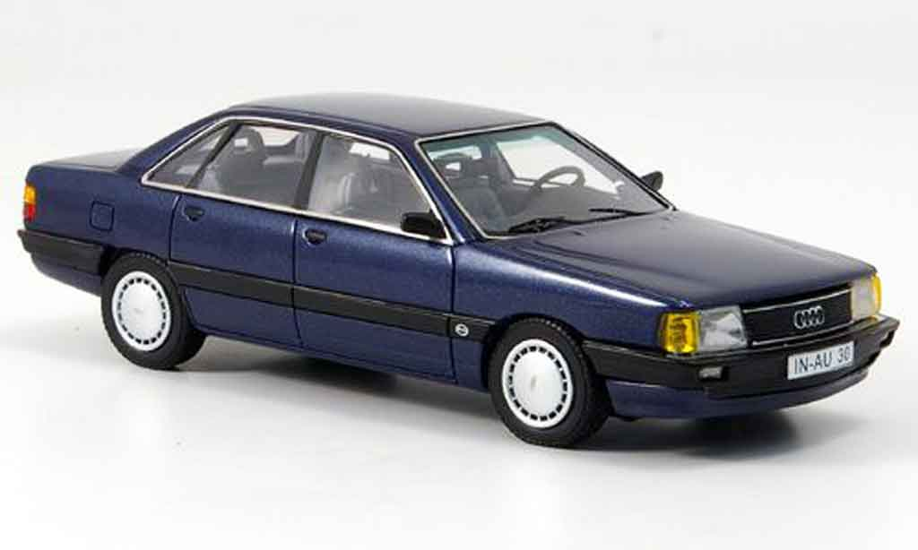 Audi 100 1/43 Neo (Typ44) bleu 1982 miniature