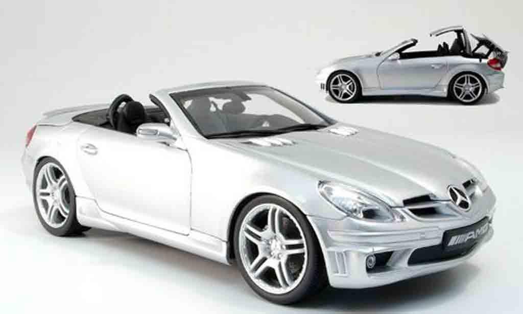 Mercedes Classe SLK 1/18 AutoProShop 55 amg grise miniature