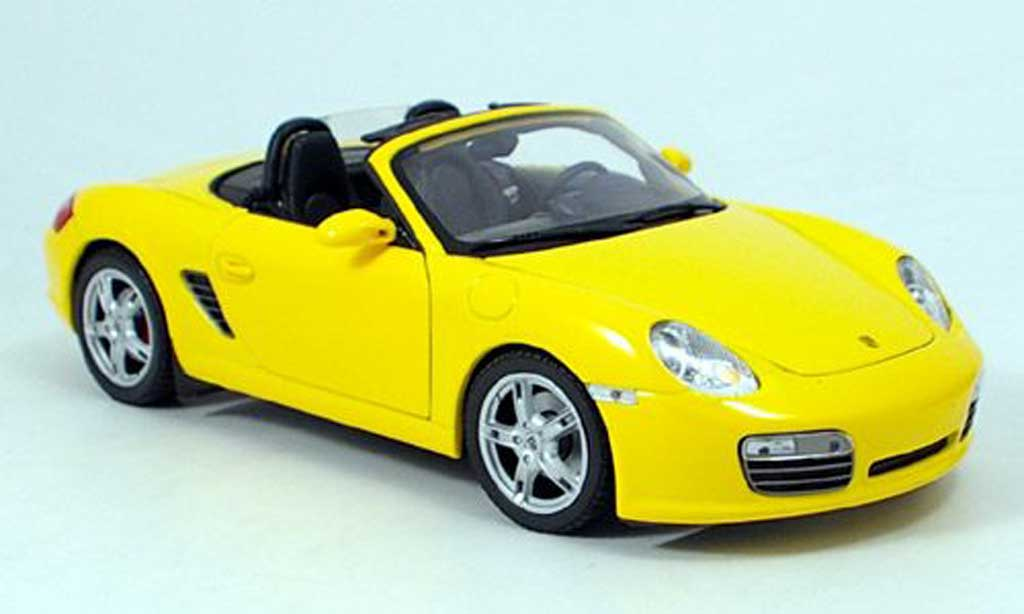 Porsche Boxster 1/18 Welly s jaune 2009 miniature