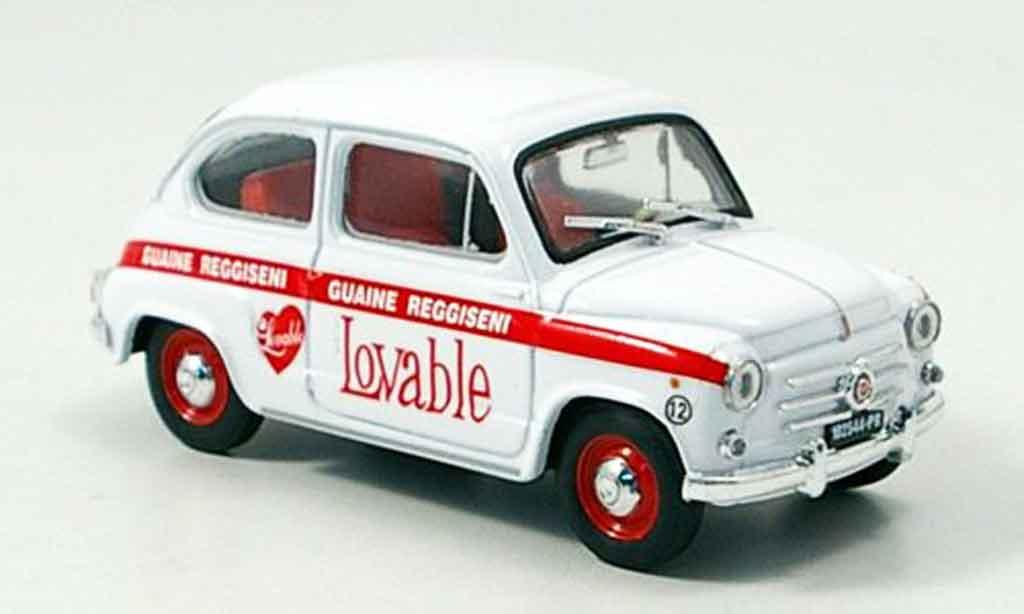Fiat 600 1/43 Brumm Intimo Lovable 1960 miniature