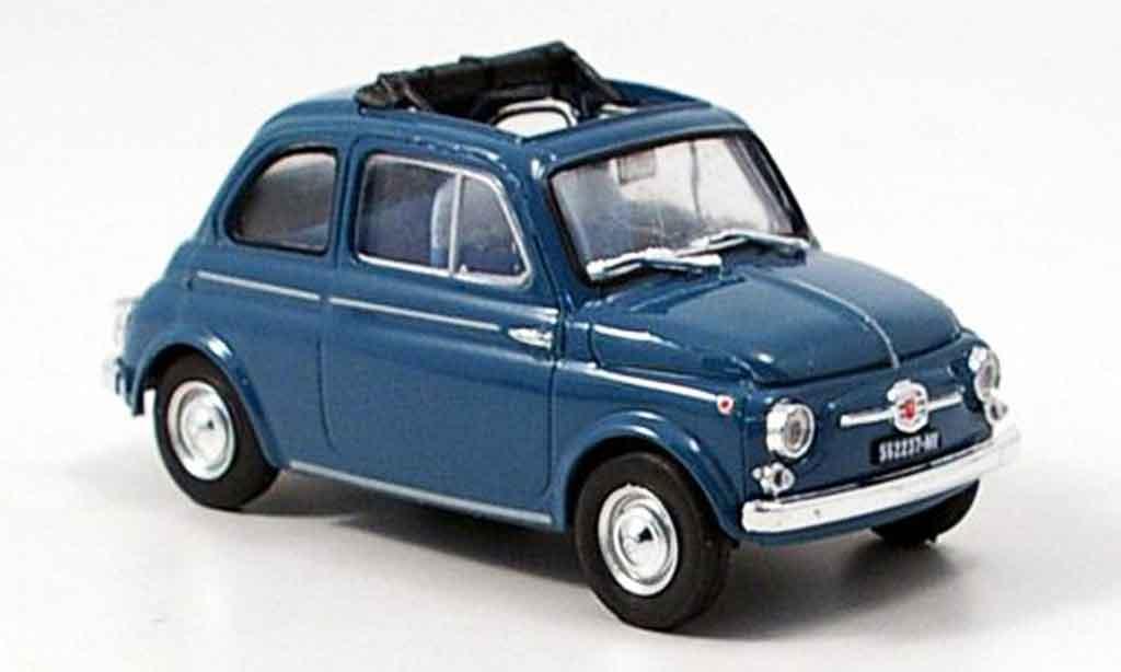 Fiat 500 1/43 Brumm D bleu 1960 diecast model cars