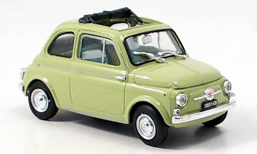 Fiat 500 1/43 Brumm D green 1960 diecast
