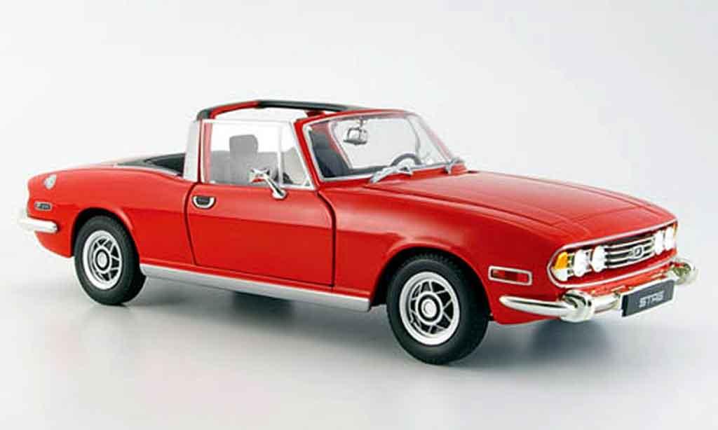 Triumph Stag 1/18 Jadi rouge 1978 miniature
