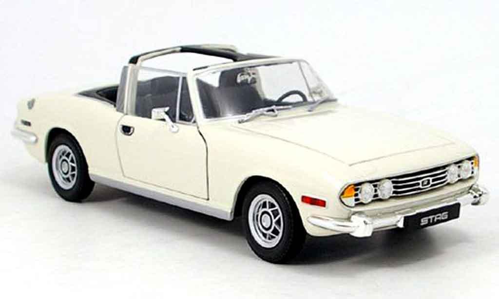 Triumph Stag 1/18 Jadi blanche 1978 miniature