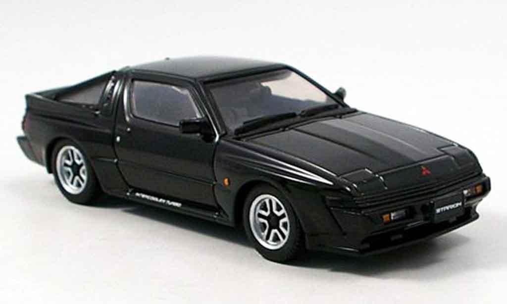 Mitsubishi Starion 1/43 Aoshima 2600 GSR VR black 1988 diecast model cars