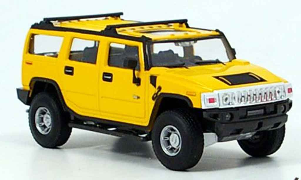 Hummer H2 1/43 Cararama yellow diecast model cars