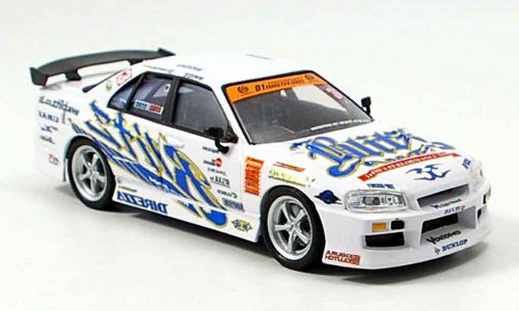 Nissan Skyline R34 1/43 Aoshima Blitz 2004 miniature