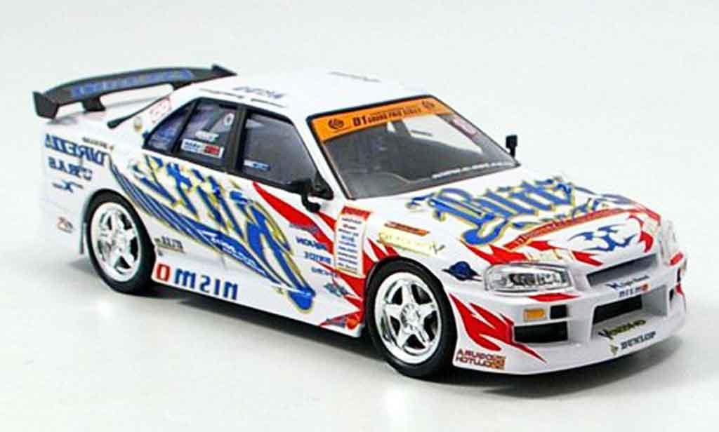 Nissan Skyline R34 1/43 Aoshima Blitz 2005 modellino in miniatura