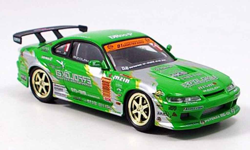 Nissan Silvia 1/43 Aoshima S15 Keioffice 2003 miniature
