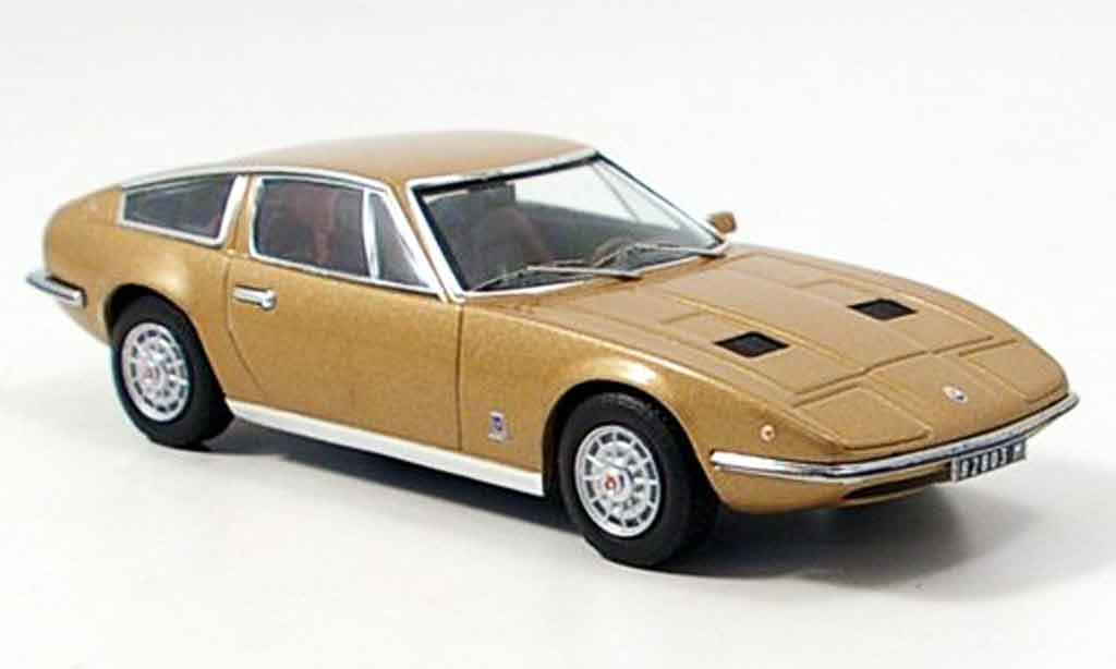 Maserati Indy 1/43 IXO beige 1971 miniature
